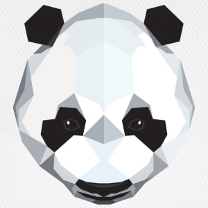 Geometric Panda (Low Poly) Shirts - Baseball Cap