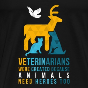 Animals need heroes-vet Sports wear - Men's Premium T-Shirt