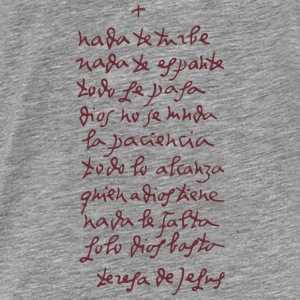 Solo Dios basta (Let nothing disturb thee) Sweatshirts - Herre premium T-shirt