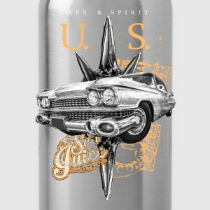us cars & spirit T-Shirts - Trinkflasche
