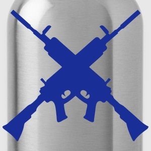 machine gun 7042 T-Shirts - Water Bottle