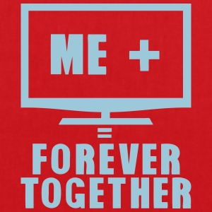 tv television tele forever together Tops - Stoffbeutel
