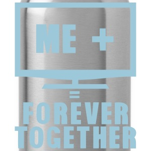 tv television tele forever together Tops - Trinkflasche