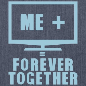 tv television tele forever together Sportbekleidung - Schultertasche aus Recycling-Material