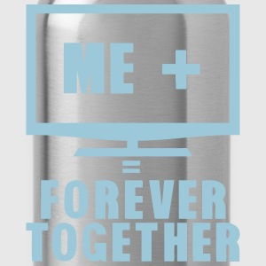 tv television tele forever together Langarmshirts - Trinkflasche