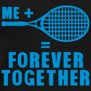 raquette tennis forever together citatio Vêtements de sport - T-shirt Premium Homme