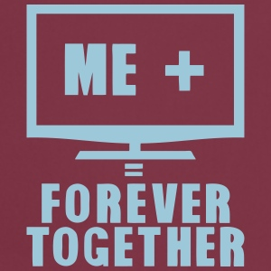 tv television forever together quote Shirts - Cooking Apron