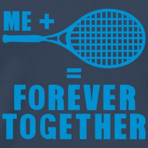 raquette tennis forever together citatio Manches longues - T-shirt Premium Homme