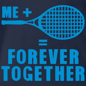 racket tennis forever together quote Shirts - Organic Short-sleeved Baby Bodysuit