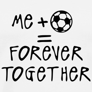 me more soccer forever together quote  Aprons - Men's Premium T-Shirt