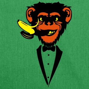 Chimpanzee monkey Banana mouth   suit T-Shirts - Shoulder Bag made from recycled material