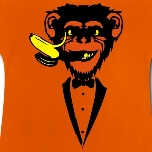 Chimpanzee monkey Banana mouth   suit Shirts - Baby T-Shirt