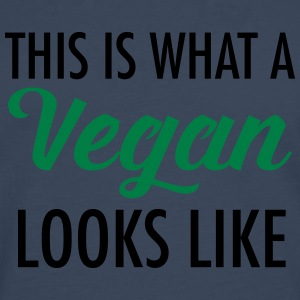 This Is What A Vegan Looks Like T-Shirts - Men's Premium Longsleeve Shirt