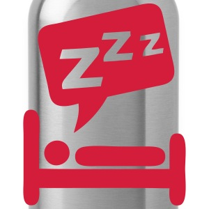 Sleeping bubble zzz icon bed 404 T-Shirts - Water Bottle