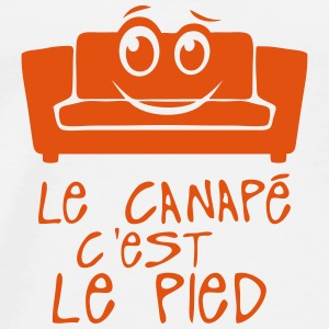 le canape c est le pied citation smiley Vêtements de sport - T-shirt Premium Homme