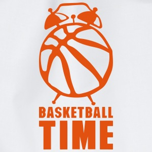 Basketball time alarm clock balloon Tops - Drawstring Bag