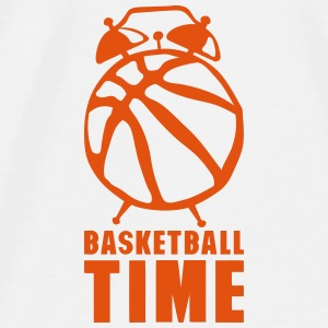 Basketball time alarm clock balloon Tops - Men's Premium T-Shirt