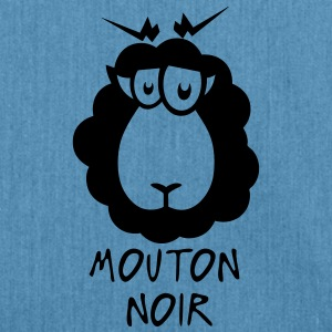 mouton noir citation dessin Tee shirts - Sac bandoulière 100 % recyclé