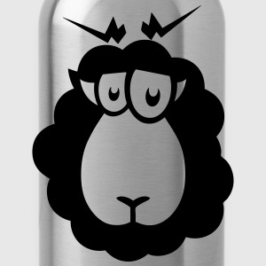 Black sheep drawing Tops - Water Bottle