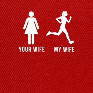Your wife my wife-runner Shirts - Snapback Cap