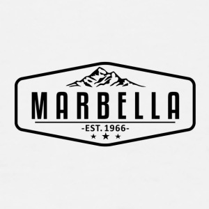 Marbella Mountain Logo with Border - Men's Premium T-Shirt