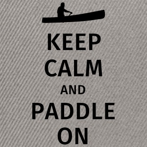 Keep Calm and Paddle on T-shirts - Snapback cap