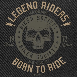 SSD Legend Riders fast and loud Biker RAHMENLOS Design grey Langarmshirts - Snapback Cap