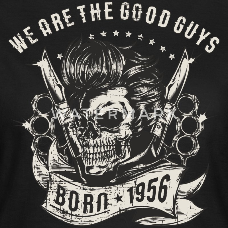 SSD Rockabilly we are th Good Guys 1956 RAHMENLOS Geburtstags Motiv Biker Rocker Trucker T-Shirts - Frauen T-Shirt