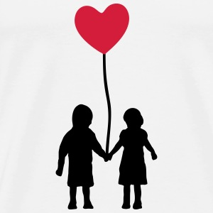 Kids and heart balloon Toppe - Herre premium T-shirt