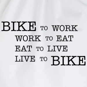 bike to work ... T-shirts - Gymnastikpåse