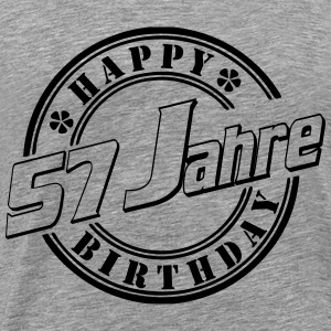 57 Happy Birthday Siegel  Langarmshirts - Männer Premium T-Shirt