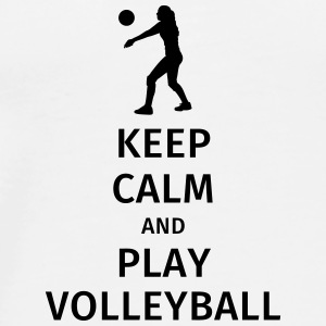 keep calm and play volleyball Bouteilles et Tasses - T-shirt Premium Homme