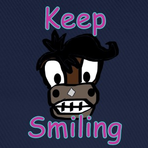 Keep Smiling - Baseballkappe