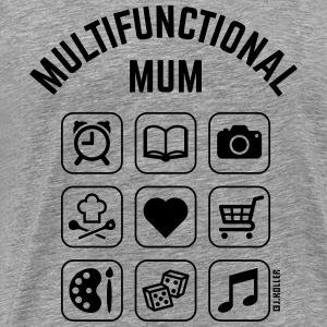 Multifunctional Mum (9 Icons) Long Sleeve Shirts - Men's Premium T-Shirt