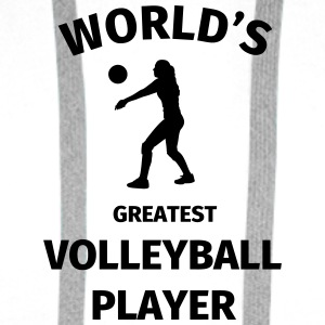 World's Greatest Volleyball Player Kubki i dodatki - Bluza męska Premium z kapturem