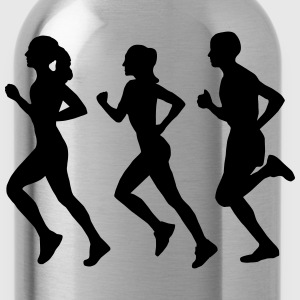Running Group (Silhouette) T-Shirts - Water Bottle