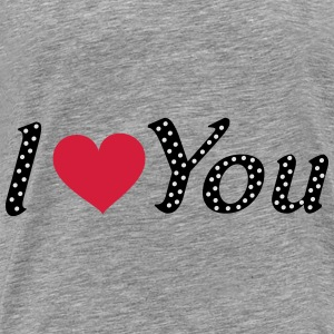 i love you gepunktet mit herz Pullover & Hoodies - Männer Premium T-Shirt