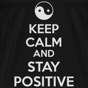Keep Calm Ying Yang Tops - Männer Premium T-Shirt