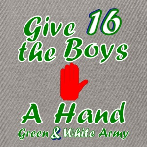 Green and White Army men's 16 t-shirt - Snapback Cap