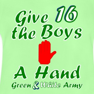Green and White Army teen's 16 t-shirt - Baby T-Shirt