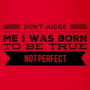 don't judge me T-Shirts - Baby Bio-Kurzarm-Body