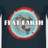 Flat Earth Map Shirt - Männer T-Shirt