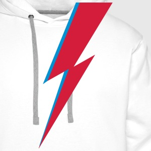 flash, music, rebel, Bowie, hero, space, blackstar - Men's Premium Hoodie