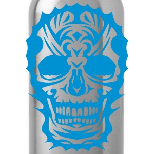skull tribal_3103 Shirts - Water Bottle