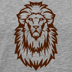 lion dessin animal sauvage tete 23103 Vêtements de sport - T-shirt Premium Homme