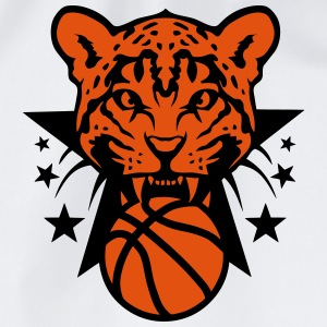 Basketball leopards tooth fierce logo T-Shirts - Drawstring Bag