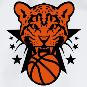 Basketball leopards tooth fierce logo Tops - Drawstring Bag