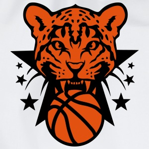 Basketball leopards tooth fierce logo Shirts - Drawstring Bag