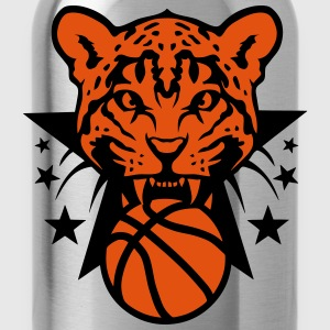Basketball leopards tooth fierce logo Shirts - Water Bottle