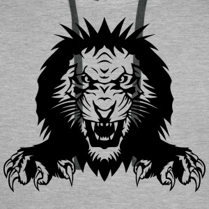 Lion claw open mouth T-Shirts - Men's Premium Hoodie